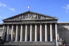 Costruzione dell'assemblea nazionale a Parigi Fotografia Stock Libera da Diritti