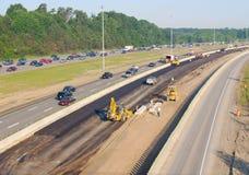 Costruzione dell'autostrada senza pedaggio Fotografie Stock