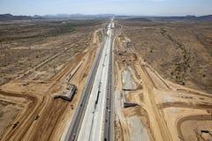 Costruzione dell'autostrada senza pedaggio Fotografia Stock