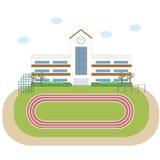 Costruzione dell'edificio scolastico della scuola Immagine Stock Libera da Diritti