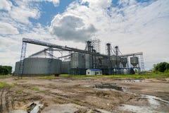 Costruzione dell'elevatore per l'elaborazione del grano Immagine Stock Libera da Diritti