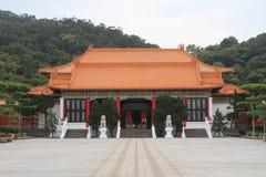Costruzione dell'entrata del santuario rivoluzionario nazionale in Taipei, Taiwan, ROC del ` dei martiri Fotografia Stock Libera da Diritti