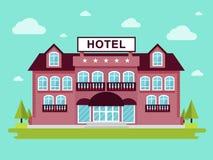 Costruzione dell'hotel Immagini Stock