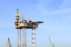 Costruzione dell'impianto offshore Immagine Stock Libera da Diritti