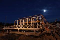 Costruzione dell'olio di notte Immagine Stock Libera da Diritti