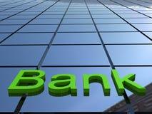 Costruzione della Banca Fotografia Stock Libera da Diritti