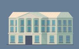 Costruzione della Banca nella città Istituzione finanziaria amministrativa dello stato per lo stoccaggio di soldi e dell'altro va illustrazione di stock