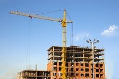 Costruzione della casa con mattoni a vista residenziale Immagine Stock Libera da Diritti