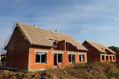 Costruzione della casa della famiglia Fotografia Stock
