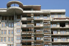 Costruzione della casa multi-storey Fotografia Stock