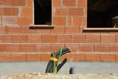 Costruzione della casa residenziale fotografia stock