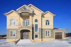 Costruzione della casa suburbana. Fotografia Stock