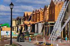 Costruzione della casa urbana fotografie stock