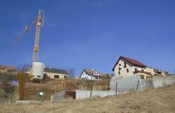 Costruzione della casa in villaggio Fotografia Stock