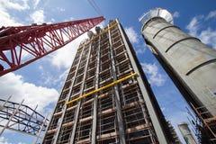 Costruzione della centrale elettrica Fotografie Stock