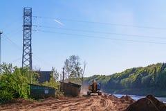 Costruzione della centrale idroelettrica di Vitebsk Fotografia Stock