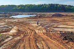 Costruzione della centrale idroelettrica di Vitebsk Immagini Stock Libere da Diritti