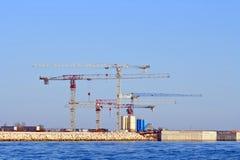 In costruzione della centrale petrolchimica Fotografie Stock