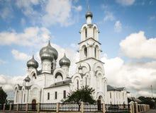 Costruzione della chiesa ortodossa russa in Bielorussia Fotografie Stock Libere da Diritti