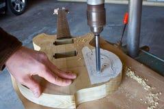 Costruzione della chitarra Fotografie Stock