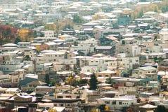 Costruzione della città di vista aerea intorno alla montagna di Fuji, viaggio Destinati Fotografia Stock Libera da Diritti