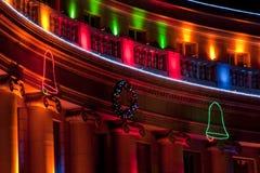 Costruzione della città e della contea di Denver durante le feste Immagine Stock Libera da Diritti