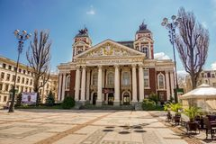 Costruzione della città a Sofia, Bulgaria fotografie stock