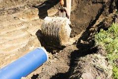 Costruzione della conduttura dell'acqua Fotografie Stock Libere da Diritti