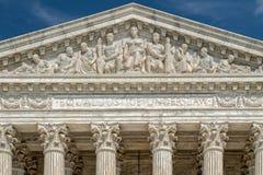 Costruzione della Corte suprema in dettaglio di DC di Washington immagine stock