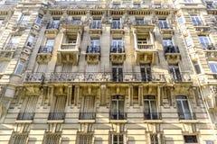 Costruzione della facciata della pietra di Parigi Immagine Stock Libera da Diritti
