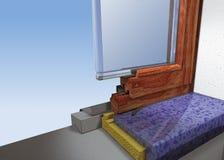 Costruzione della finestra Fotografie Stock Libere da Diritti