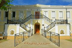 Costruzione della legislatura di U S Le Isole Vergini, Charlotte Amalie immagine stock libera da diritti