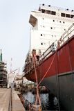 Costruzione della nave porta-container. Fotografia Stock Libera da Diritti