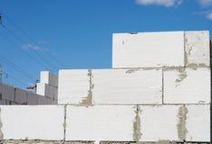 Costruzione della parete del blocchetto di cenere Fotografia Stock Libera da Diritti