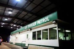Costruzione della pattuglia di frontiera degli Stati Uniti Fotografie Stock