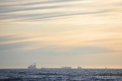 Costruzione della piattaforma petrolifera Fotografie Stock Libere da Diritti