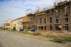 Costruzione della proprietà degli alloggi nuovi Fotografia Stock