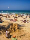 Costruzione della sabbia dell'elefante Fotografie Stock Libere da Diritti