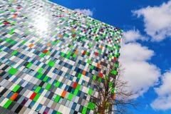 Costruzione della sistemazione dello studente al campus universitario a Utrecht, Paesi Bassi Immagini Stock