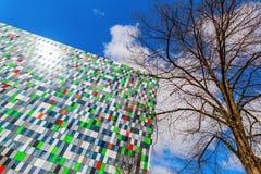 Costruzione della sistemazione dello studente al campus universitario a Utrecht, Paesi Bassi Fotografie Stock