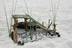 Costruzione della spiaggia Fotografia Stock