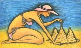 Costruzione della spiaggia Immagini Stock Libere da Diritti