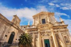Costruzione della st Ignatius Church e della High School, Ragusa Immagine Stock