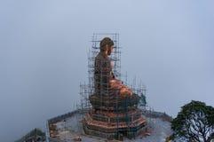 Costruzione della statua di Buddha sulla montagna di Fansipan Immagini Stock Libere da Diritti
