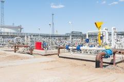Costruzione della stazione di pompaggio dell'olio Immagine Stock Libera da Diritti
