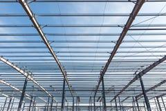 Costruzione della struttura d'acciaio Fotografia Stock