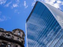 Costruzione della torre del grattacielo di Londra Fotografia Stock Libera da Diritti