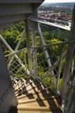 Costruzione della torre dell'allerta di Petrin a Praga, repubblica Ceca Fotografie Stock Libere da Diritti