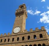 Costruzione della torre di orologio di Florence Italy Historic Fotografie Stock