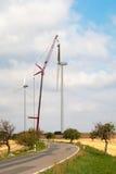 Costruzione della turbina di vento Immagini Stock Libere da Diritti